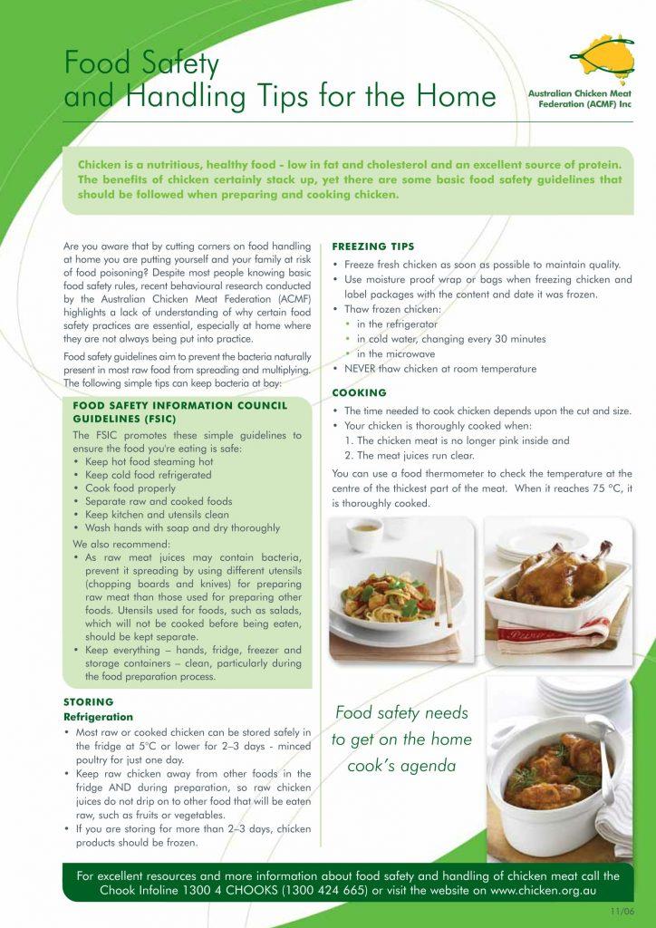 Acmf Food Safety Fact Sheet 1 Acmf